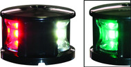 'FOS 12' LED Tri-Colour Nav Light - Black Horizontal mount