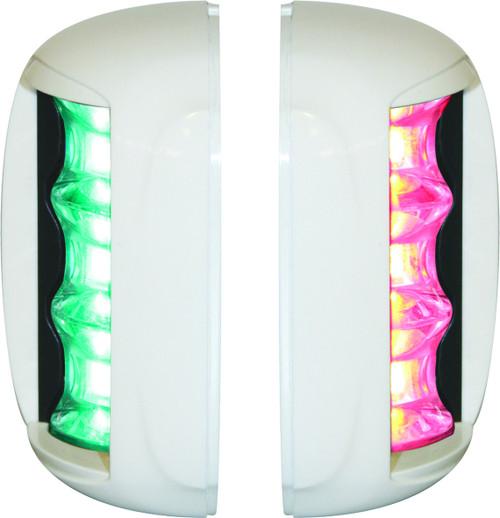 'FOS 20' LED Prt & Stb Light - White vertical mount