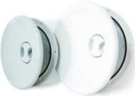 Round Hinged Access Hatch - White Lge