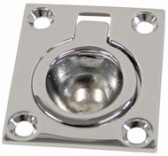 Chrome Flush Ring Pull - Small
