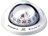Offshore 95 Powerboat Compass White, Flush, Conical