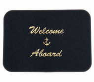 Mat - Welcome Aboard Black/gld