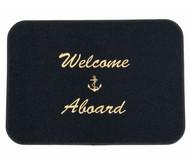 Mat - Welcome Aboard Black/gld