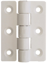 Nylon Butt Hinge - White 63mm