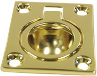Brass Flush Ring Pull - Small