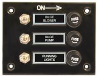 Switch Panel Blk 3 Switch