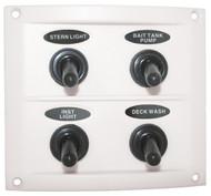 Switch Panel White 4 Sw