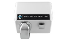 Surface Mounted - Push Button - White Epoxy Painted - Hand & Hair Dryer (76-W)