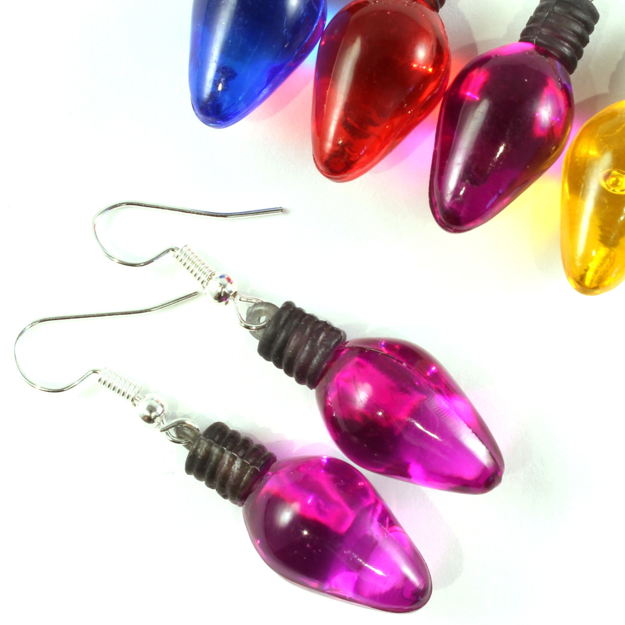 Funky Christmas Light Earrings