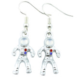 Funky Space Astronaut Dangle Earrings