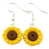Funky Wild Sunflower Dangle Earrings