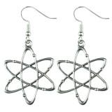 SCIENCE LAB ATOM Dangle Earrings