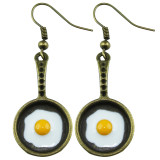 BRONZE FRYING PAN Dangle Earrings
