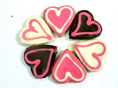 Big Doggy Love Heart Dog Cookie - 3pce