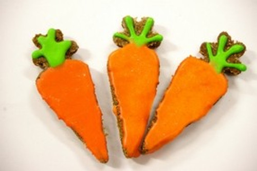 Bunny Carrots - Baked Rabbit Cookies.  Made by Huds and Toke.   100% Australian Made for Rabbits and Guinea Pigs and Hamster Pets.