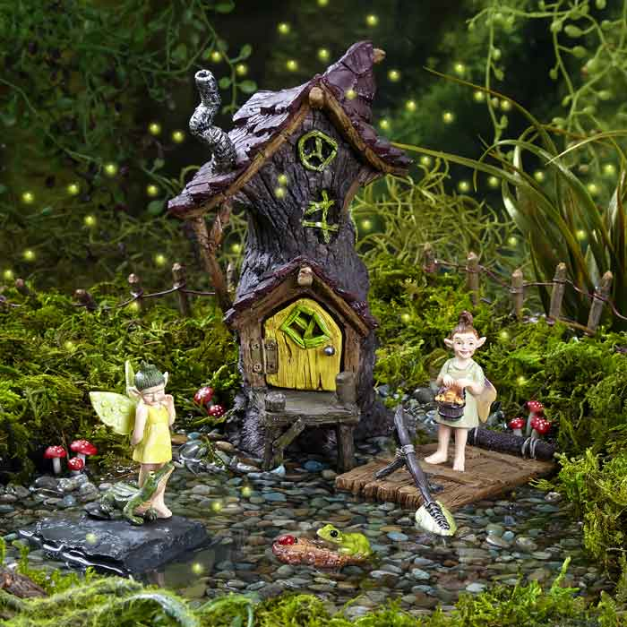 swamp land themed fairy garden