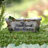 Fiddlehead Fairy Garden Sign