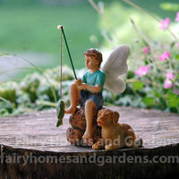Fairy Boy and His Dog Fishing