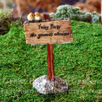 Miniature Fairy Party Sign
