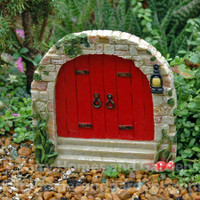 Red Cobblestone Fairy Door