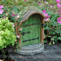Miniature Mystical Green Fairy Door