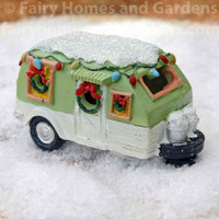 Miniature LED Christmas Camper