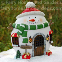 LED Snowman Fairy House