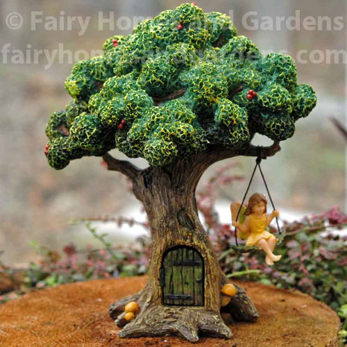 Woodland Knoll Tree with Fairy on a Swing