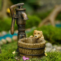 Miniature Puppy at the Well