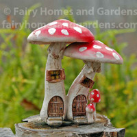 Red Mushroom Fairy Condo with Pick