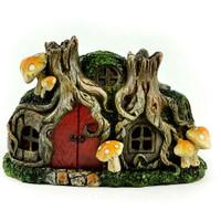 Miniature LED Tree Stump House