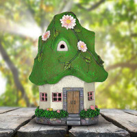 Solar Moss Roof Fairy Cottage