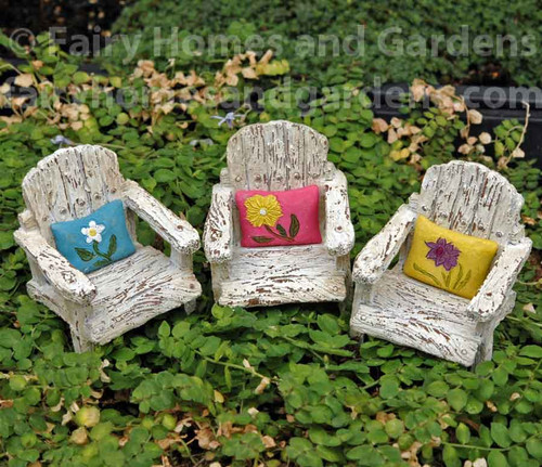Genial Miniature Fairy Garden Porch Chairs