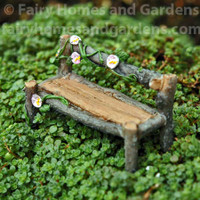 Itty Bitty Fairy Garden Bench