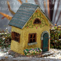 Scroll Fairy House with Hinged Door