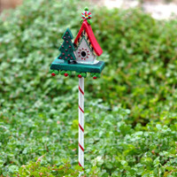 Miniature Christmas Birdhouse