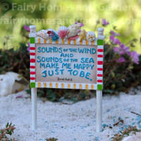 Miniature Merriment 'Sounds of the Wind' Sign
