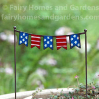 Miniature 4th of July Flag Banner