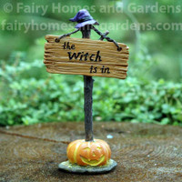 "Miniature ""The Witch is In"" Sign"