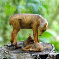 Miniature Deer and Fawn