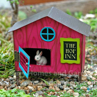 The Hop Inn Bunny Hutch with Baby Bunny