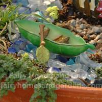 Fairy Garden Pea Pod Canoe