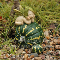 Fairy Baby atop a Green Pumpkin
