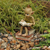 Pixie Reading a Book
