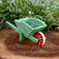Miniature Green Wheelbarrow