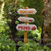 "Miniature ""Nurture Your Mind"" Sign"