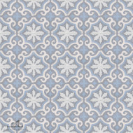 MEDALLION POWDER BLUE CEMENT TILES