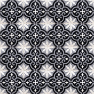 MEDALLION BLACK CEMENT TILES