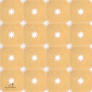 STARS YELLOW CEMENT TILES