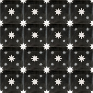DOUBLE STARS BLACK CEMENT TILES